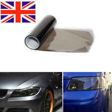 Medium Black Smoke Headlight Tint Vinyl Wrap Car Light Tint Covertte 30x120cm