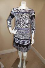TRIBAL Femme Lined Animal Print 3/4 Sleeved Dress~Size S