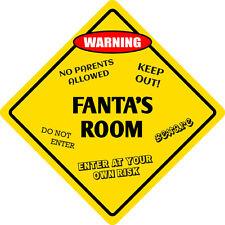 """*Aluminum* Fanta's Room 12""""x12""""  Metal Novelty Sign Arning"""