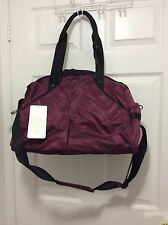 New With Tag Lululemon Extra Mile Duffel Red Grape Burgundy Gym Yoga Travel