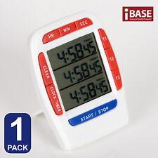 Kcasa 3-line Triple Bel Digital Clock Kitchen Timer Magnetic Stick Alarm Count
