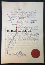 KP Brehmer, Rotwerte II, Farbserigraphie, 1974, handsigniert