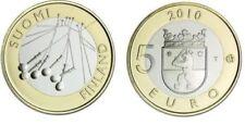 manueduc  FINLANDIA 2010  5 EUROS Conmemorativos REGIONES SATAKUNTA NUEVOS
