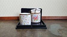 Dollhouse Miniature Waste Paper Baskets x2 Reutter Porcelain 1:12 Scale Decor