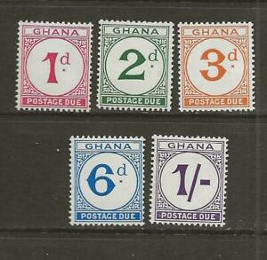 Ghana 1958 Postage Due Stamps Complete Set MLH SG D14-D18 - A36