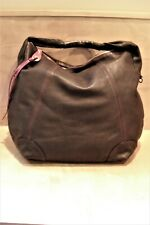 CLAUDIA FIRENZE Brown Leather Extra Large XL Hobo Shoulder Bag ITALY EXC! SALE!