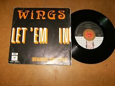 WINGS - LET'EM IN - BEWARE MY LOVE - 45 PS / LISTEN - POP