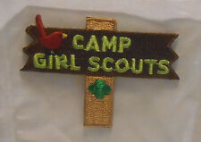 "Girl Scouts Fun Activity Patch ""Camp Girl Scouts"" Camping ~ Iron On ~ NEW"
