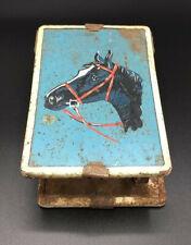 Vintage Horse - Shaving Mirror Stand w. Soap Dish Brush Holder Antique Display