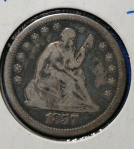 1857-O Seated Liberty Quarter-Semi Key Better Date