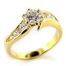 14K GOLD EP 1.85CT DIAMOND SIMULATED RING 7 or O