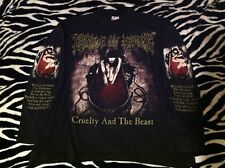 Vintage Cradle Of Filth Cruelty And The Beast Shirt. XL Longsleeve RARE HTF 1998