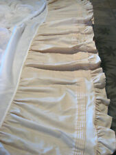 COUNTRY LIVING Beige Ruffled Gathered Bedskirt - Queen