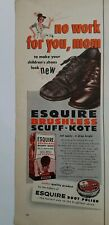 1953 vintage Esquire boot shoe polish brushless scuff-kote no work Mom ad