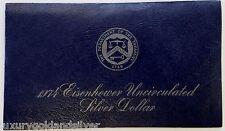 1974 S $1 Silver Ike Dollar Eisenhower Coin Unc Type 2 US Mint Blue Envelope COA