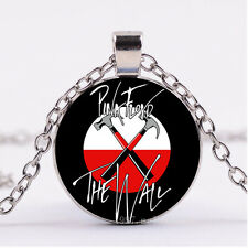 New Cabochon Silver/Bronze/Black Glass Necklace pendant(Pink Floyd--N-857