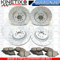 FOR AUDI A4 B8 FRONT REAR CROSS DRILLED PERFORMANCE BRAKE DISCS PLATINUM PD PADS