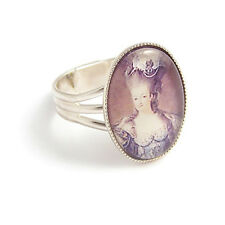 Marie Antoinette Let them EAT CAKE Queen RING silver
