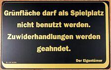 Signo de Cartel advertencia Zona verde darf como juegos no se usa están 308724