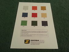 1981 ZASTAVA Yugo UK COLOUR GUIDE CHART 1100 1300 ZLM ZLC ZLX 3/5 DOOR BROCHURE
