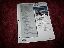 Prospectus / Sales sheet brochure MACK Granite 2001 //