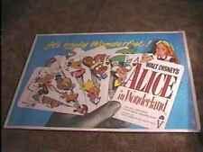 ALICE IN WONDERLAND QUAD MOVIE POSTER 1951 DISNEY RARE