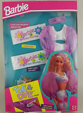 1993 BARBIE Tie Dye Groovy Fashions Kit #11281 Dyeable Top Leggings NRFB New!