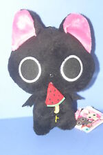 The Gothic World of Nyanpire Black Cat Plush Doll in JAPAN Watermelon 6.6""