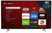 "TCL 43"" 4K Ultra HD Roku Smart LED TV with 3 HDMI/1 USB Ports & Built-in WiFi"
