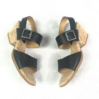 Korks Brown leather sandals w/ cork heel- Size 7M - Excellent preowned condition