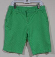 Euc Gap Kids Girls Green Embroidered Dots Adjustable Waist Bermuda Shorts Siz 12