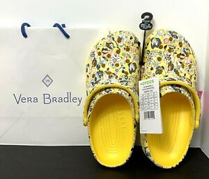 Vera Bradley x Crocs Sunshine Floral Slip On Clog Shoe Women Size 7 NEW