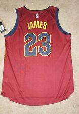 NWT Fanatics FastBreak Cleveland Cavs NBA LeBron James #23 Red Away Jersey Sz L