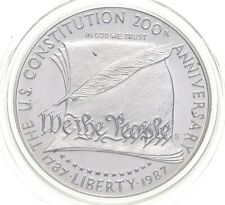 1987-S US Constitution Bicentennial Commem Silver Dollar Charles Collection *584