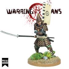 Samurai nain blindé Naginata Warhammer Fantasy Armies 28 mm non peinte wargames