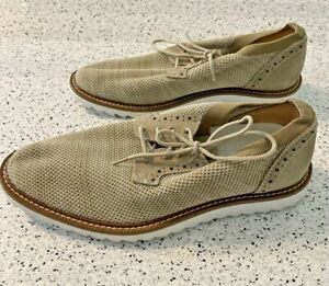 Dockers Mens Einstein Knit/Leather Dress Casual Oxford Shoe 9M Genuine Leather 9