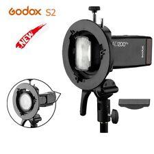Godox S2 Speedlite Bracket Bowens Mount for AD200Pro AD400Pro V1 V860II Flash