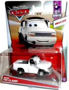 BRIAN FEE CLAMP - Piston Cup Reporters Deluxe vehicle Disney Mattel Cars new toy