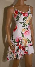 BNWT impresionante para mujer Vestido de Diseñador Floral Blanco De Roberto Cavalli Talla Mediana M