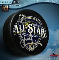 JAROMIR JAGR Signed 2016 NHL All Star Game Puck - Florida Panthers