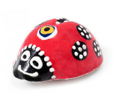 Turkish Evil Eye Painted Ceramic Ladybug Fridge Magnet Amulet Home Decoration