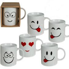 Set Of 12 Emoji Coffee Tea Mugs Funny Face Ceramic Espresso Cups Drink Kitchen