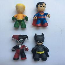 """MEZCO MEZ-ITZ DC BATMAN SUPERMAN HARLEY QUINN & AQUAMAN loose 2"""" figures"""