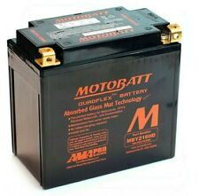 New Motobatt MBYZ16H AGM High Power Motorcycle Battery Upgrade For YTX14-BS
