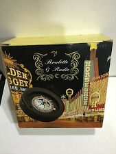 VINTAGE NOVELTY RADIO AM(MW)- FM BAND WITH ROULETTE GAME FROM1970s 1980sWITH BOX