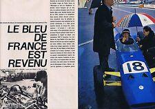 COUPURE DE PRESSE CLIPPING 1964 RENE BONNET course automobile  (4 pages)