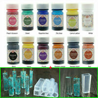 12 Bottles 10ML Epoxy UV Resin Coloring Dye Colorant Pigment Mix Color DIY Set