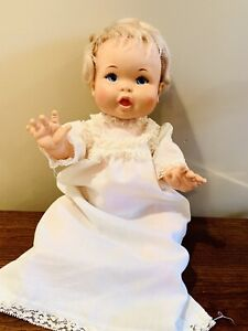 Vintage Rub-A-Dub Dolly Baby Doll 1973 Ideal Toy Corp Vinyl Plastic Hard Body