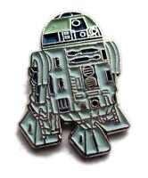 Metal Enamel Pin Badge Brooch Star Wars Starwars SW R2D2 R2-D2 Robot White