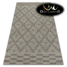 "VERY THICK AMAZING RUGS ""SOFT"" Diamonds cream HIGH QUALITY best carpets durable"